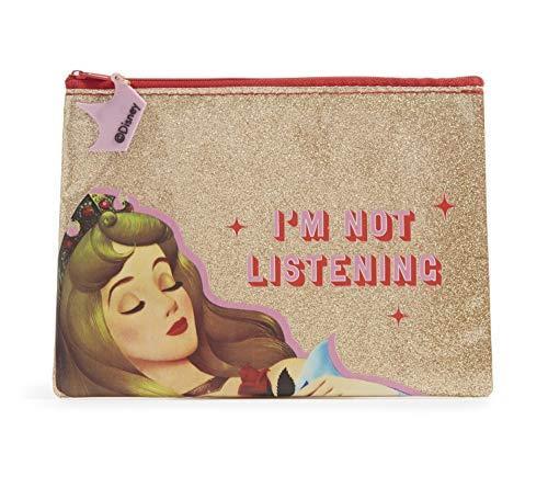 Disney Astuccio portapenne principesse Disney. Astuccio glitter oro Principessa Aurora. dimensione 20 x 15 cm
