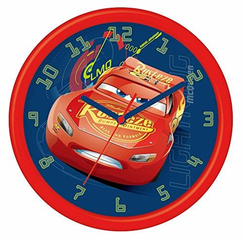 Cars 3 Orologio Da Parete 24 Cm In Confezione Regalo 26X4X26 Cm
