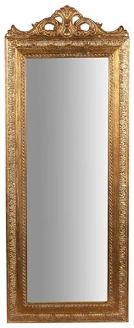 Specchiera da appendere L35xPR2xH90 cm finitura oro anticato.