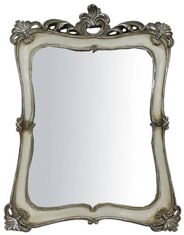 Specchiera da appendere L40xPR4xH54 cm finitura oro/bianco anticato.