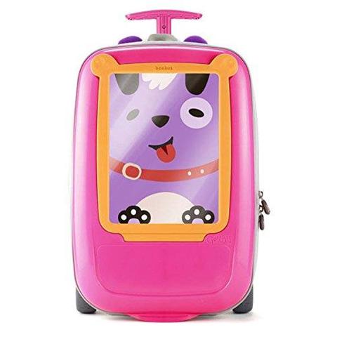 Trolley Borsa Zainetto per Bambine da Scuola Viaggio con Ruote 39x7x15 cm Rosa
