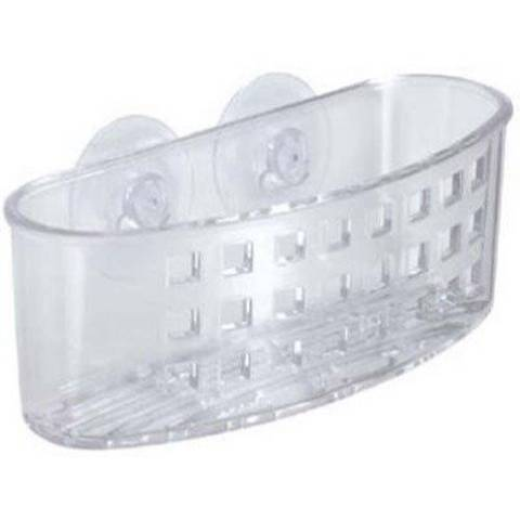 InterDesign 38900EU Portaspugne e Spazzole a Ventosa Centrale Plastica Trasparente