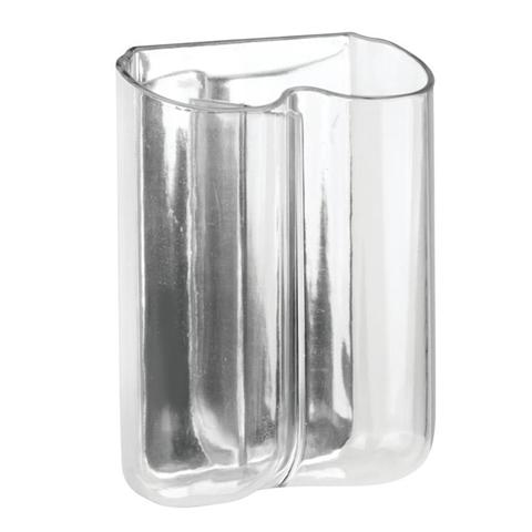 Portaspazzolino Forte Presa Autoadesiva Plastica Trasparente Affixx Una Peel-And-Stick Interdesign