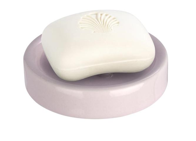 Porta Saponetta Ceramica Rosa 11X11X2,5 Cm Polaris Pastel Rose Wenko