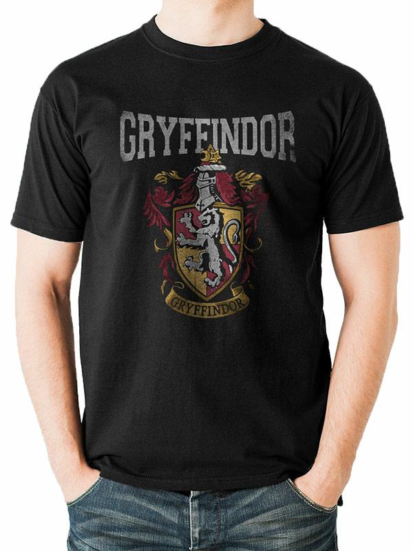 T-Shirt Unisex Tg. M. Harry Potter: Gryffindor Varsity Crest