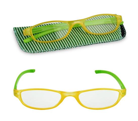 Occhiali da lettura con astuccio mod. Handy varie gradazioni - Verde + 2.5