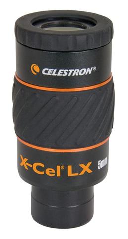 Celestron X-Cel LX 5 mm oculare Telescopio 1,6 cm Nero, Arancione