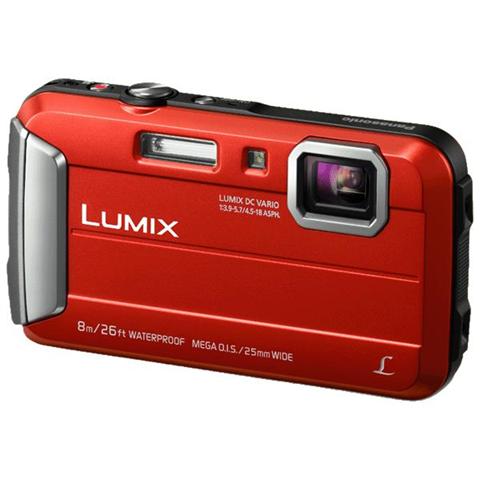 Panasonic Fotocamera compatta Panasonic Lumix DmC Ft30 Rossa