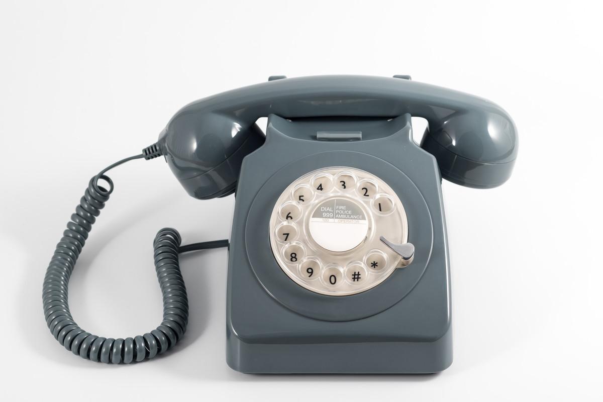 Telefono Vintage Gpo 746 Rotary Grey
