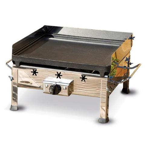 Barbecue Fornello A Gas Con Piastra In Ghisa Asportabile Ferraboli Plancha Inox