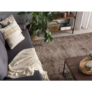 Tappeto shaggy marrone chiaro 200 x 300 cm EVREN