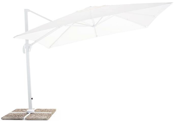 Ombrellone da Giardino Decentrato 3x4 m in Alluminio My Garden Senso Bianco