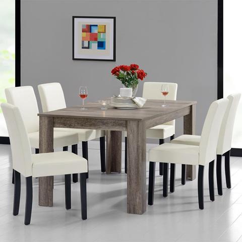 Tavolo da pranzo e set di sedie 'Oslo' 6 sedie