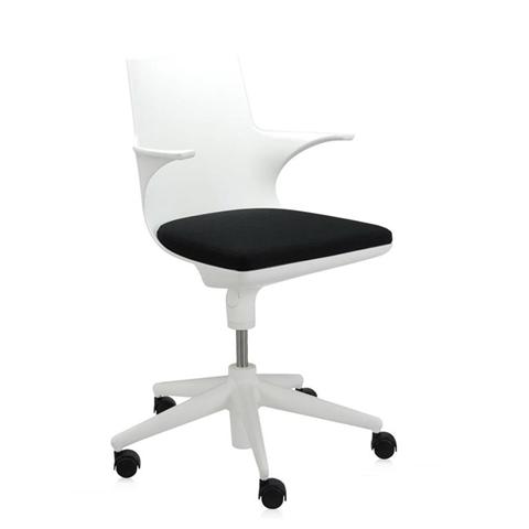 Kartell Spoon Chair Bianco Nero