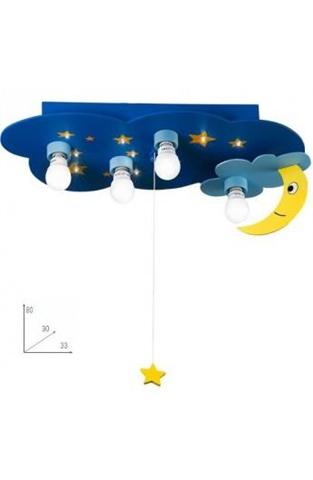 K-Stellina/Pl - Luce Notturna Di Colore Blu Con Cielo Stellato E Luna