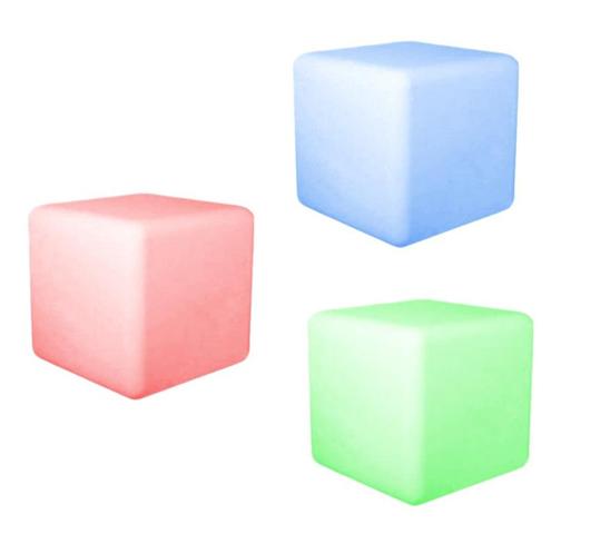 Set 3 Cubi LED Multicolore Cromoterapia 370582 luce ambiente Notturna 6,5 cm