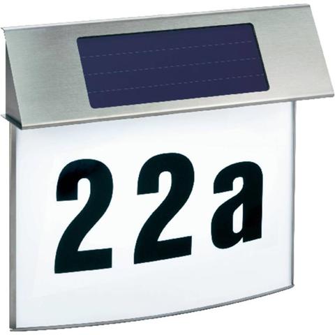 Lampada solare per numero civico Bianco neutro Esotec 102200 Vision Acciaio