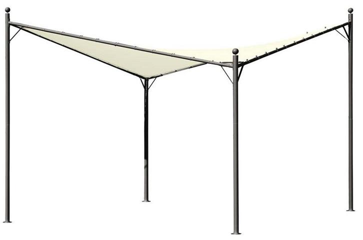 Gazebo vela parasole acciaio alicante 3,5x3,5mt