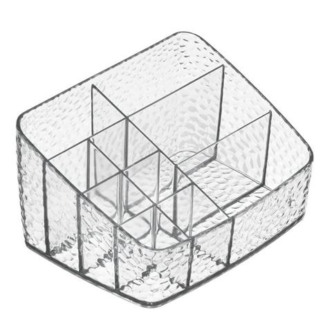 Organizzatore Cosmetici Compatto Plastica Trasparente 11,5X9X16 Cm Rain Interdesign