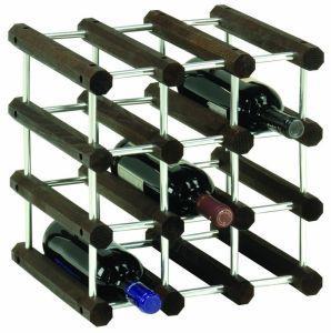 Foppapedretti IlCantiniere Cubo per vino 12 bottiglia/bottiglie Alluminio, Legno Alluminio, Wenge
