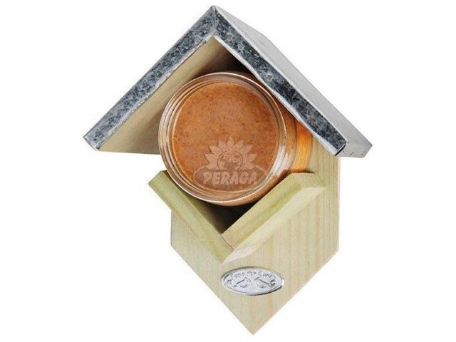 Casetta Porta Burro D'arachidi Per Uccelli Selvatici 14,5 X13x19, 5 Cm