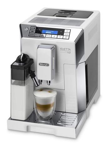DeLonghi ELETTA CAPPUCCINO TOP ECAM 45.760.W Libera installazione Macchina da caffè combi Argento, Bianco 2 tazze Automatica