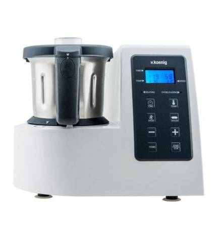 H.Koenig HKM1028 robot da cucina 2 L Grigio, Acciaio inossidabile, Bianco 1400 W
