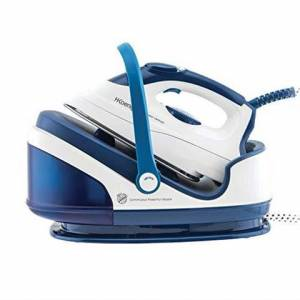 H.Koenig VIX7 ferro da stiro a caldaia 2400 W 1,7 L Acciaio inossidabile Blu, Bianco