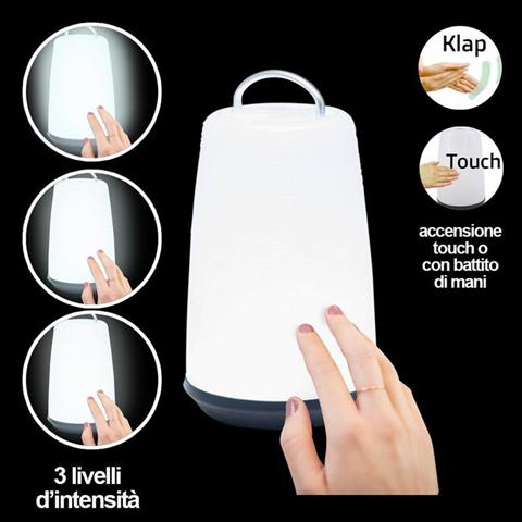 Lampada da Tavolo Scrivania 24 Led con Accensione Touch Battito di Mani Mano