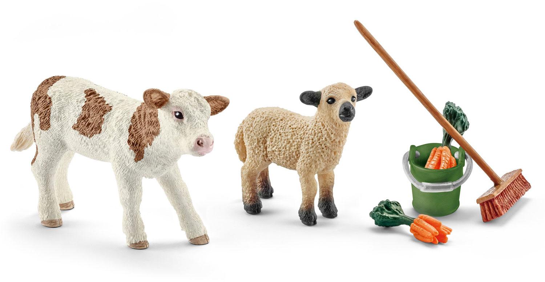 Set per La Cura Della Stalla con Vitello e Pecorella 41422