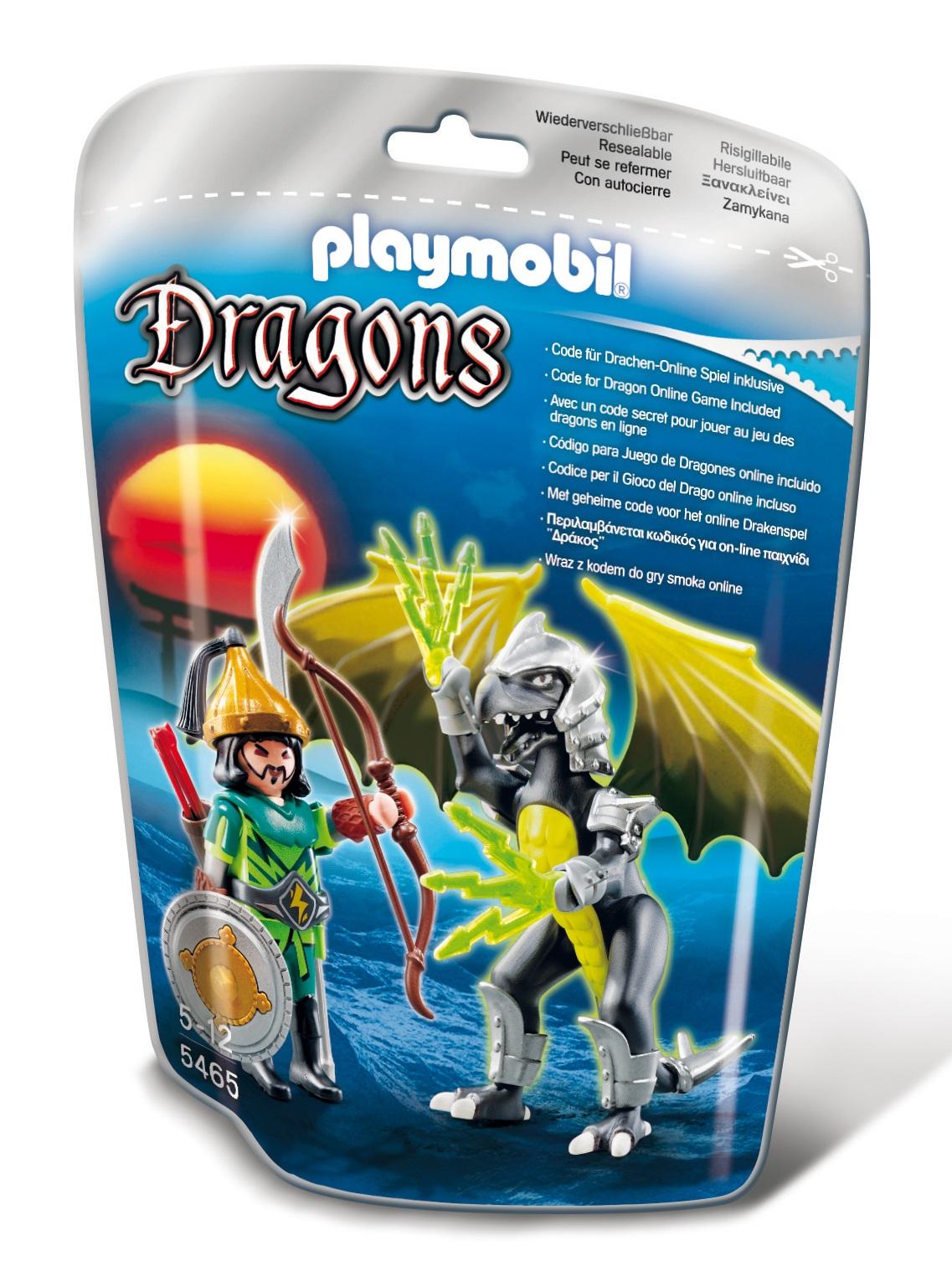Playmobil Dragons. Drago fulmine con guerriero (5465)