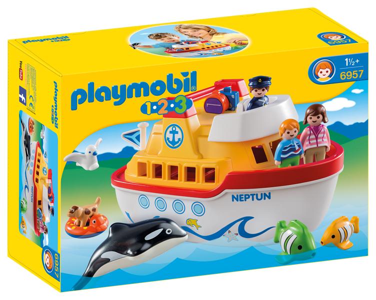 Playmobil 1-2-3. Traghetto con Bimbi e Animali Marini (6957)