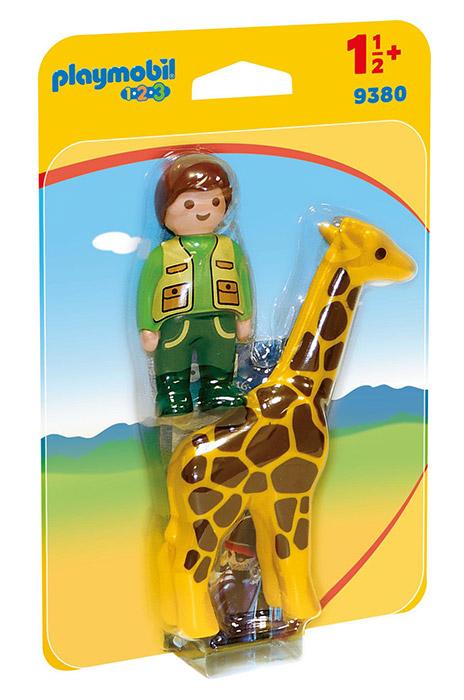 Playmobil 1. 2. 3 (9380). Custode Dello Zoo con Giraffa 1. 2. 3
