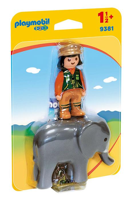 Playmobil 1. 2. 3 (9381). Custode Dello Zoo con Elefante 1. 2. 3