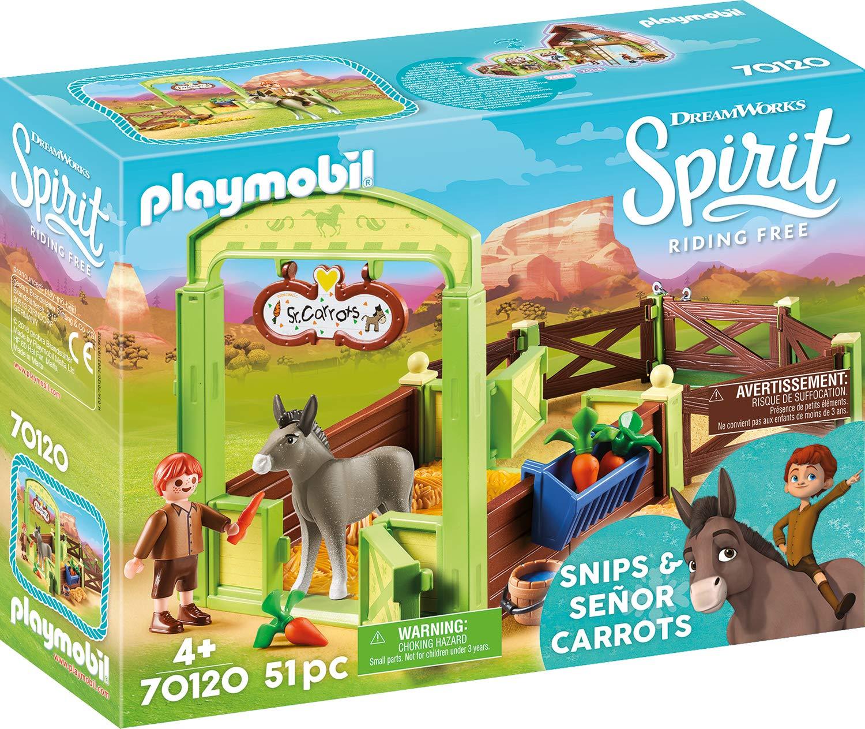 Playmobil Spirit Ii (70120). Stalla con Snips e Señor Carota