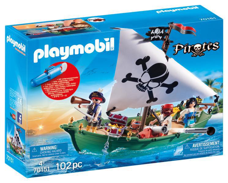 Playmobil Pirates (70151). Nave Pirata con Motore Subacqueo
