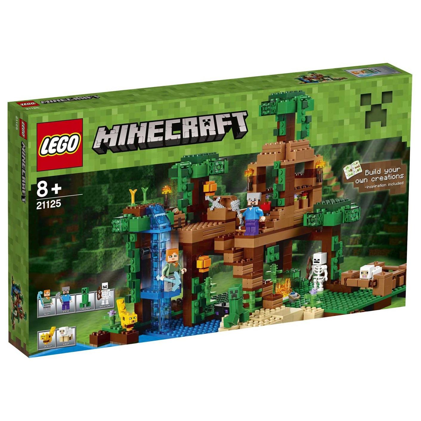 Lego Minecraft (21125). La casetta sull'albero della giungla