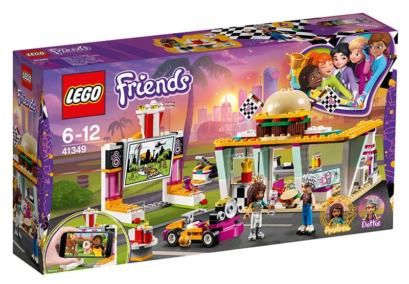 Lego Friends (41349). Il fast-food del go-kart