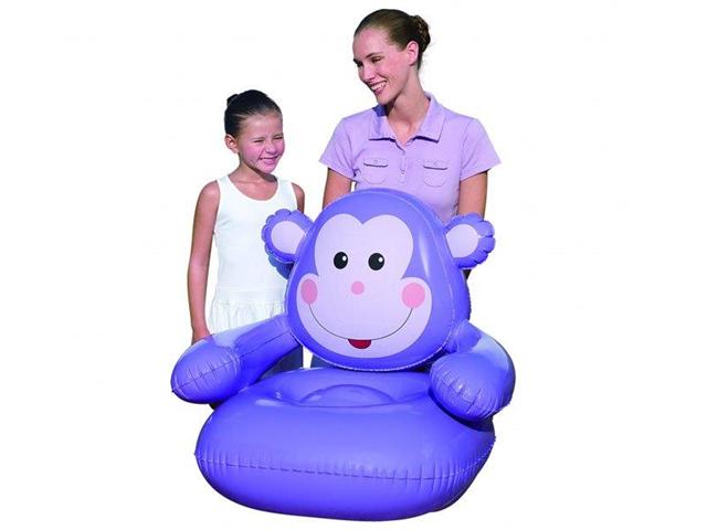 Poltrona Pouff Gonfiabile Scimmia Per Bambini 80x80x71cm Bestway 75024