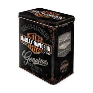 ART Scatola L Tin Box L Harley-Davidson Genuine Logo, 14x20x10 cm
