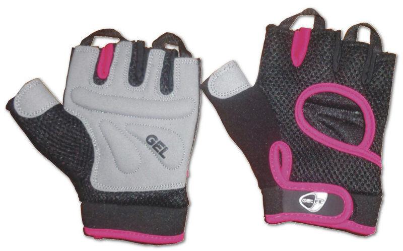 get fit fitness - guanti - donna - black/pink