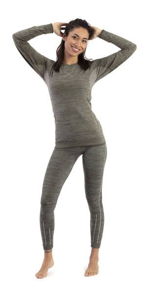 hot stuff set long seamless w - completo intimo - donna - grey