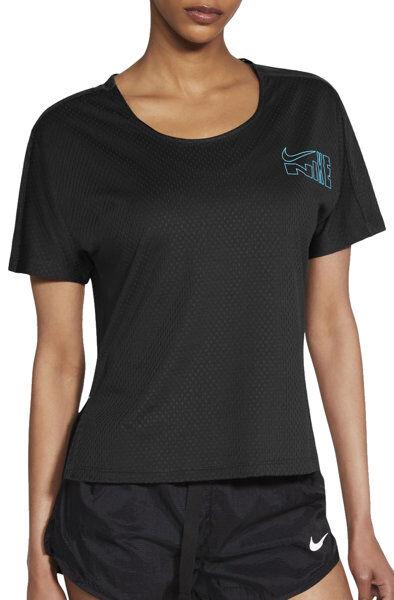 Nike City Sleek Icon Clash - maglia running - donna - Black