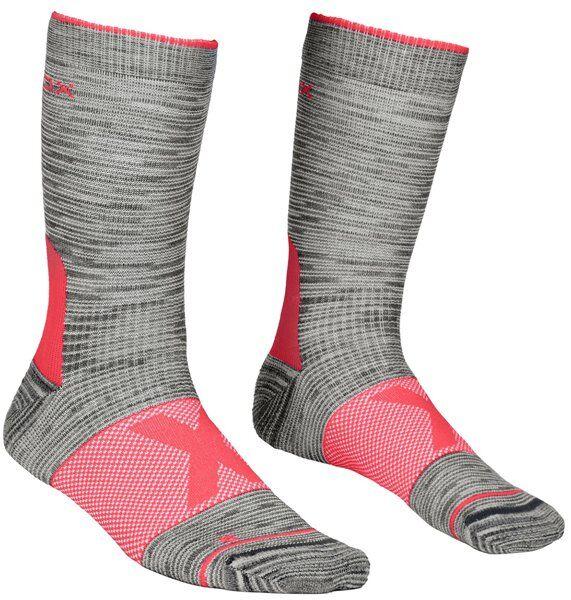 Ortovox Alpinist Mid W - calzini corti - donna - Grey/Pink