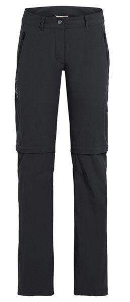 Vaude Wo Farley Stretch Zo Pnt - pantaloni zip off - donna - Black