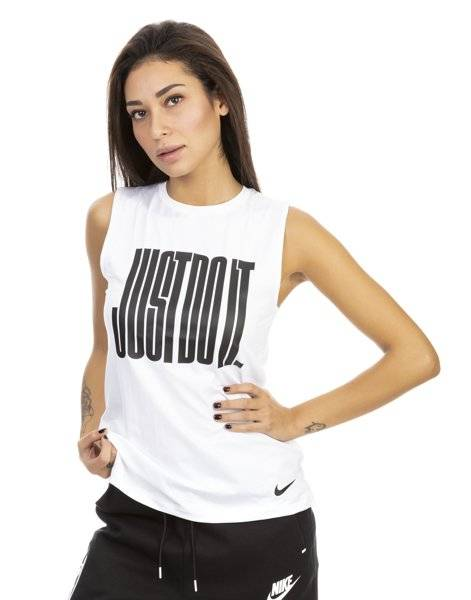 Nike Pro JDI Muscle - top fitness - donna - White