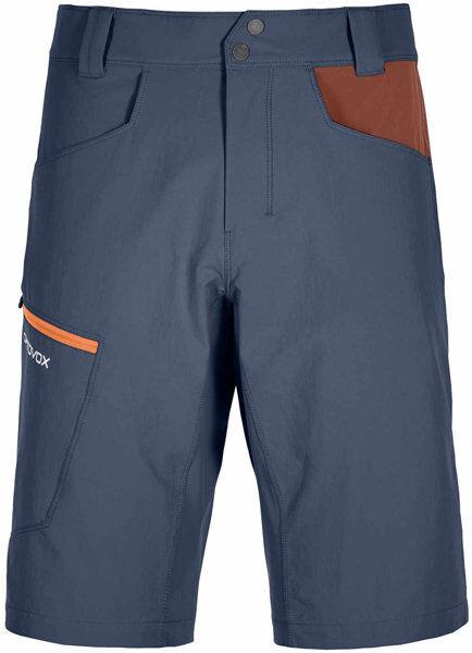Ortovox Pelmo - pantaloni corti trekking - uomo - Blue/Dark Red