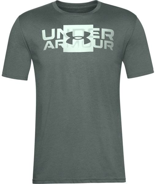 Under Armour Box Logo Wordmark - T-shirt fitness - uomo - Green