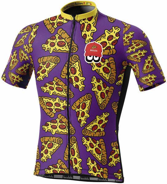 Biciclista Pizza - maglia bici - uomo - Violet/Yellow