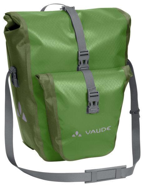 vaude aqua back plus - borsa bici posteriore (due borse) - green